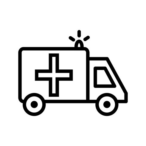 Icône d'ambulance de vecteur
