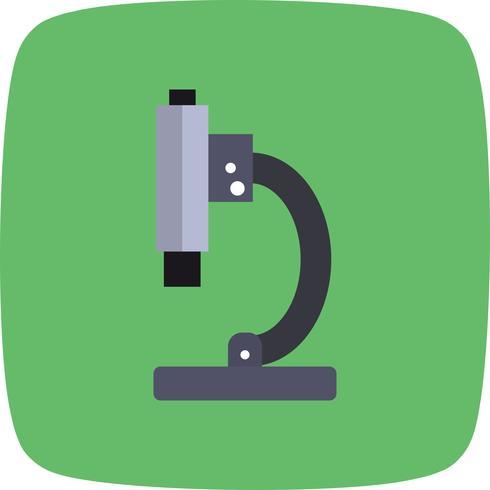 Icône de microscope de vecteur
