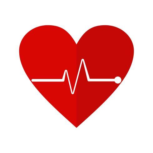 Icône de fréquence cardiaque vectorielle vecteur