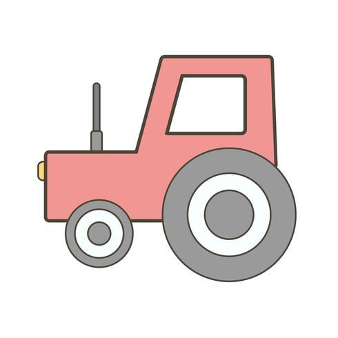 Icône de tracteur de vecteur
