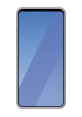 Smartphone isolé sur fond blanc. vecteur