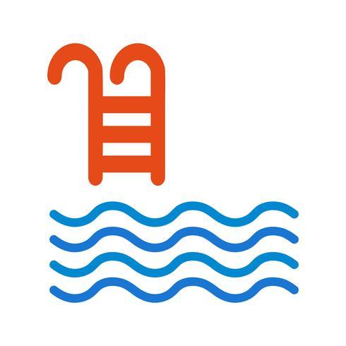 Illustration vectorielle de piscine icône vecteur