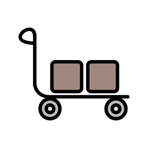 Icône de chariot de vecteur