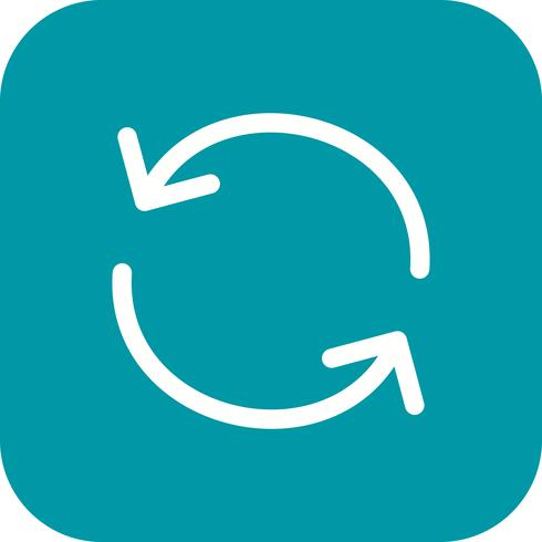 Recharger l'icône Illustration vectorielle vecteur