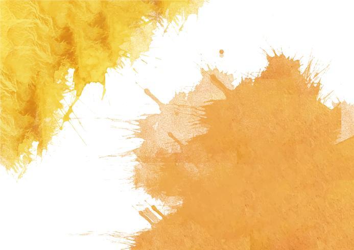 Peint à la main coloré fond aquarelle. Coups de pinceau aquarelle jaune. Texture aquarelle abstraite et fond pour la conception. Fond aquarelle sur papier texturé. vecteur