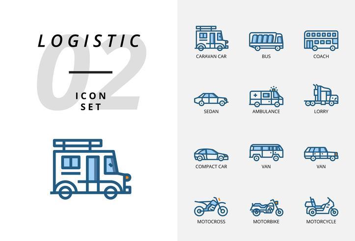 Pack d'icônes pour la logistique, la livraison par drone, la destination, le maintien au sec, la logistique globale, la maison, l'achat, la sécurité, le délai de livraison, la protection, la livraison, la sécurité, le transport. vecteur