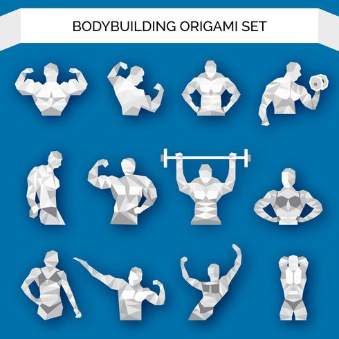 Bodybuilding Polygonal Blanc vecteur