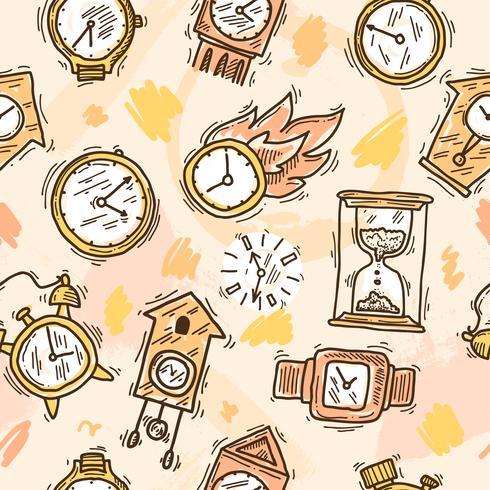 Horloge Seamless Pattern vecteur