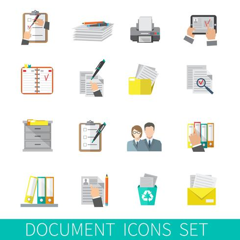 icône de document à plat vecteur