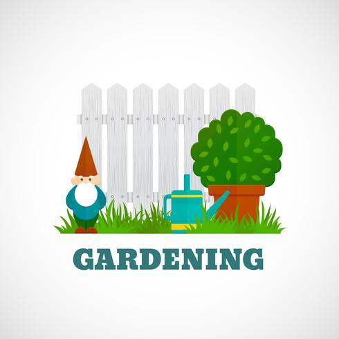 Affiche de jardinage plat vecteur