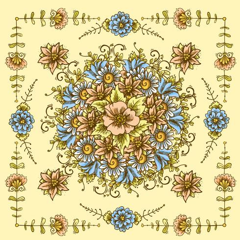 Motif floral vintage vecteur