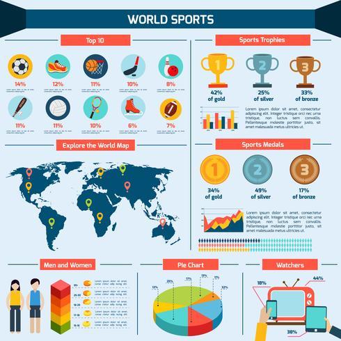 Set d'infographie sportive vecteur