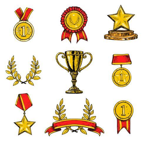 Prix des icônes mis en couleur vecteur