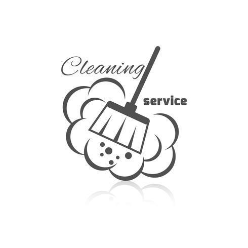 Icône du service de nettoyage vecteur