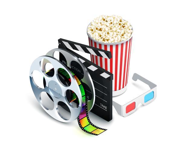 Concept de cinéma réaliste vecteur