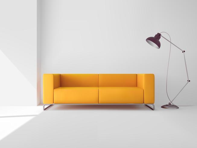 Salon avec canapé vecteur