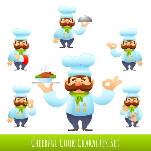 Cook personnages de dessins animés vecteur