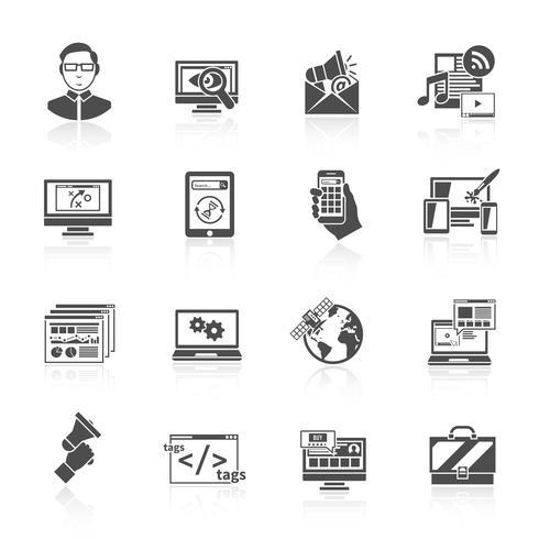 Icône de référencement Internet vecteur