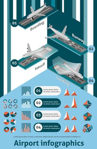 Ensemble d'infographie de l'aéroport vecteur