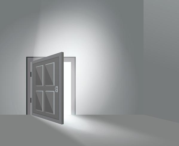 Porte de la chambre ouverte vecteur