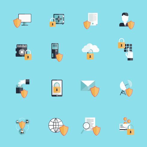 icône de sécurité d'information plat vecteur