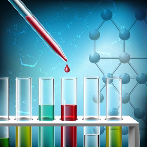 Gros plan sur la recherche scientifique vecteur