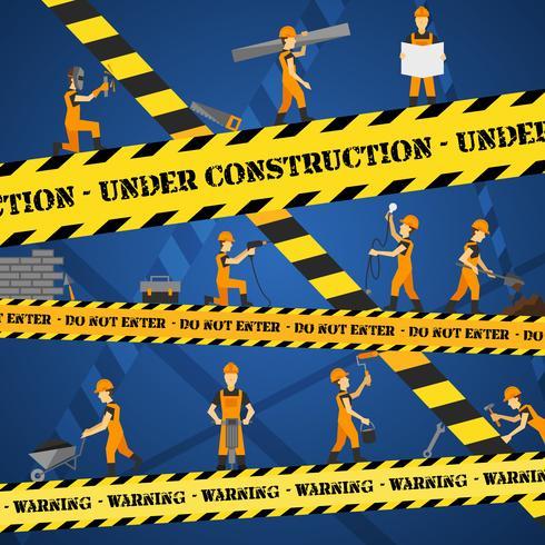 Affiche en construction vecteur