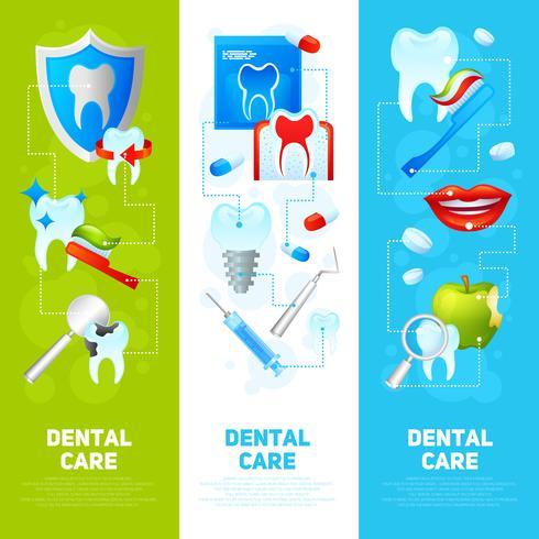 Ensemble de bannière dentaire vecteur
