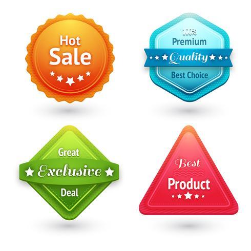 Collection d'étiquettes de vente vecteur