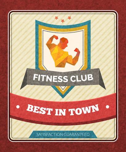 Affiche de club de fitness vecteur