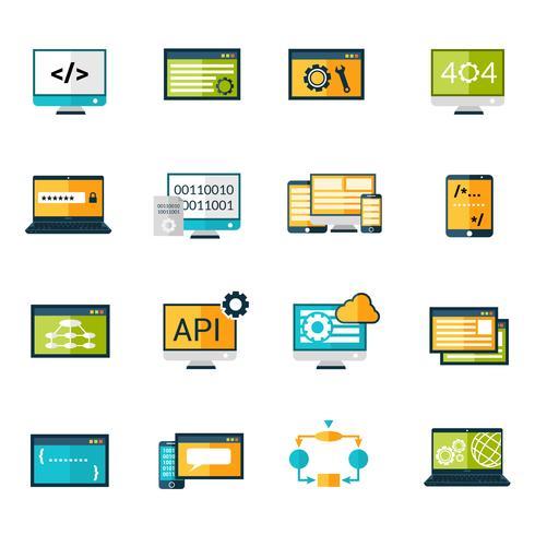 Programmation Icons Set vecteur