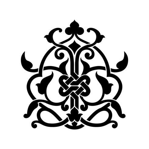 Tatouage arabe abstrait vecteur