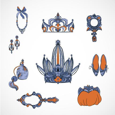 accessoires de princesse vecteur
