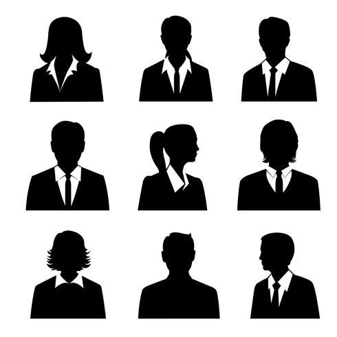Ensemble d'avatars d'affaires vecteur