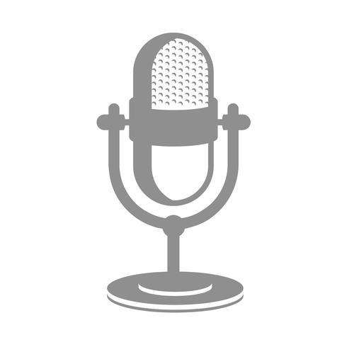 Icône de microphone rétro vecteur