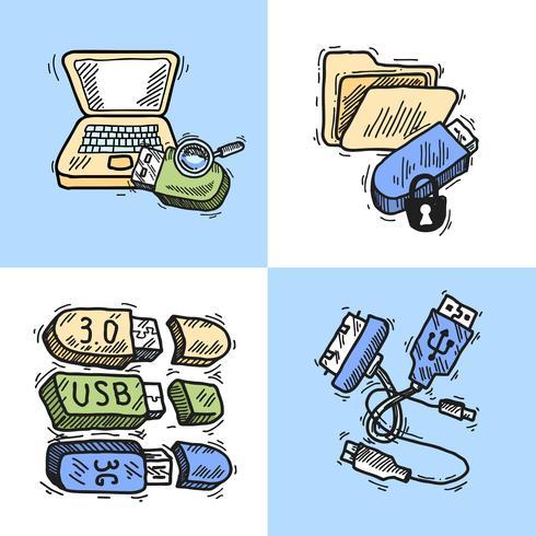 Concept de design USB vecteur