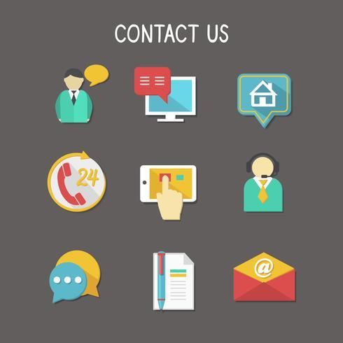 Contactez-nous Icons vecteur