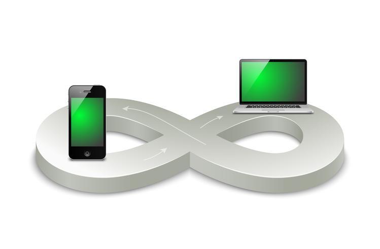 l'ère numérique vecteur