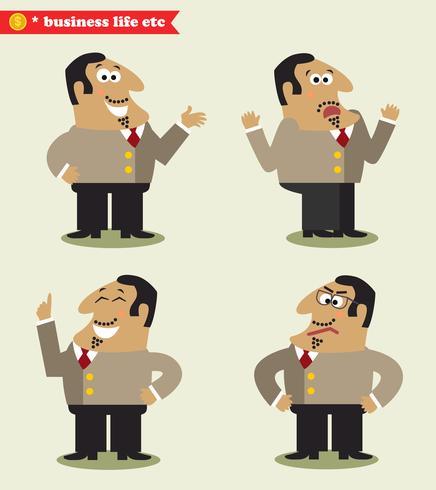 Président émotions en poses vecteur