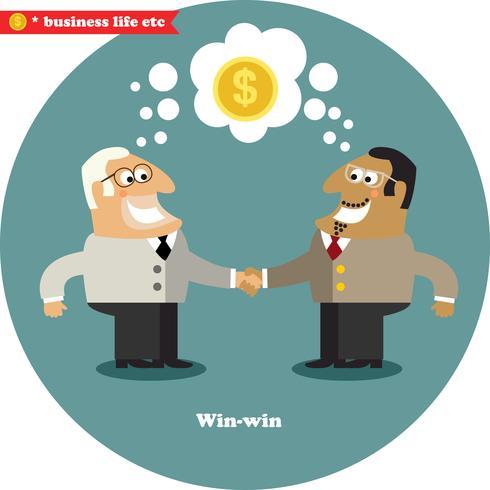 Négociation d'affaires grosse affaire vecteur
