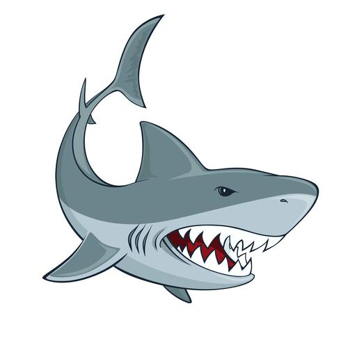 Signe de requin vecteur