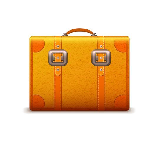 Emblème de valise de voyage vecteur