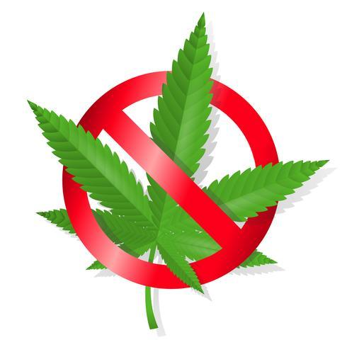 Arrêtez le signe de la marijuana vecteur