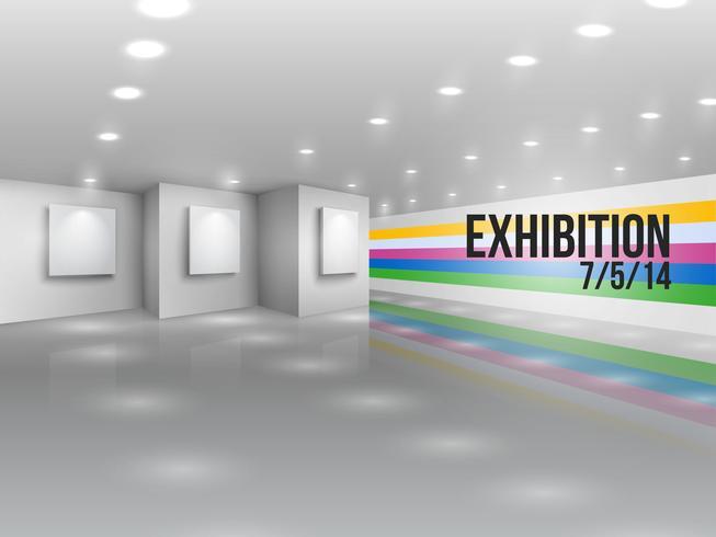 Invitation publicitaire pour une exposition vecteur