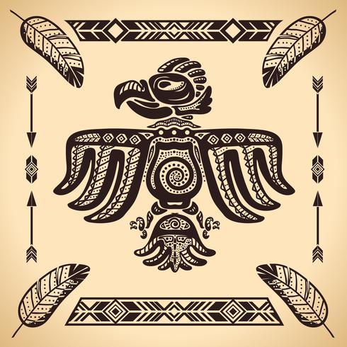 Signe de l'aigle tribal américain vecteur