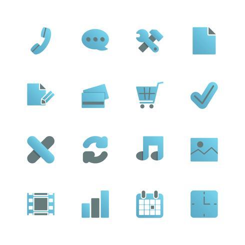 Ecommerce iconset pour la conception web vecteur