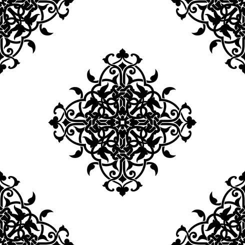 Fractale décorative de style arabe ou musulman vecteur