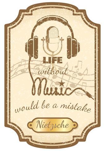 Affiche de musique live rétro vecteur