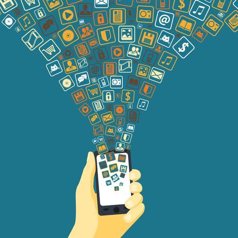 Entonnoir d'applications mobiles vecteur