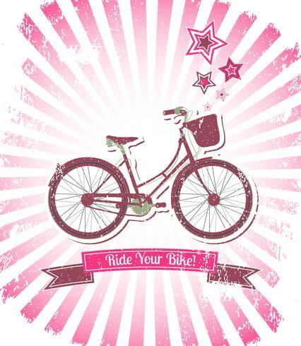 Roulez votre bannière de vélo vecteur